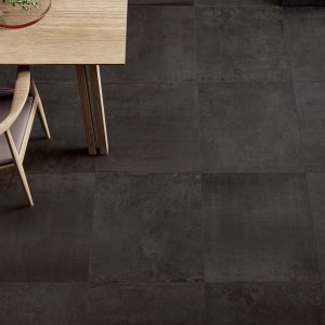 Black Floor Tiles - Materia Deep