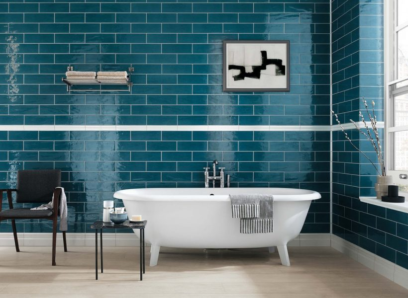 Teal Bathroom - Manhattan Jeans by Fap Ceramiche - Vibrant Turquoise