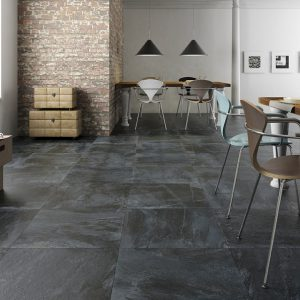Black Floor Tiles - Nature Black