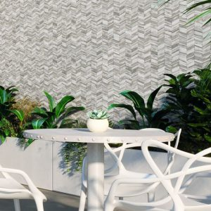 Chevron Tile Wall Feature