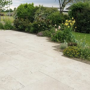 Travertine Classic Light VC Honed & Unfilled 305x610x12mm