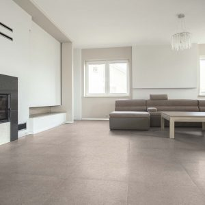 Eco Mineral Ash tiled living room
