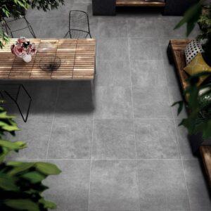 Porcelain Floor Tiles - Stone Grey