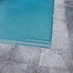 Natural Stone - Granite Pool Tiles - Landscape White Flamed 400x600
