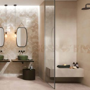 Mat & More Beige Decorative Wall Tiles