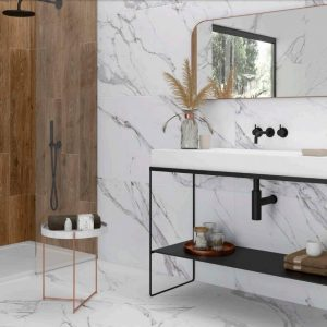 Carrara Marble Look Bathroom