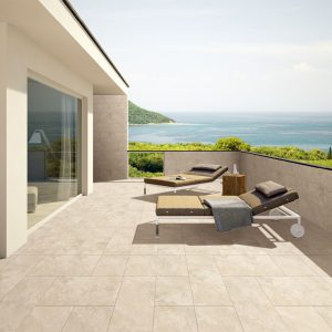 Outdoor Tiles - Vero Travertine Beige