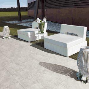 Outdoor Tiles - Vero Travertine Grigio