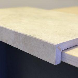 Outdoor Coping Tiles - Vero Travertine Biege