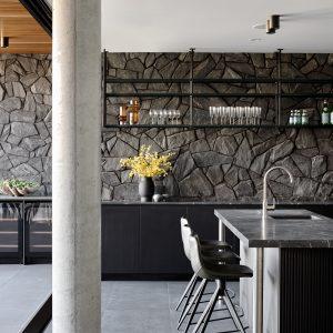 Luxury Home built by Zephyr Industries - Moon Stone Black Tiles
