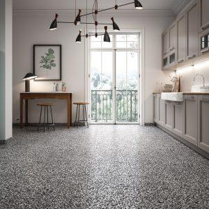 Terrazzo Floor Black