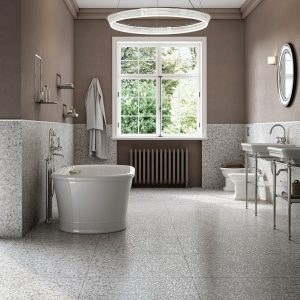 Terrazzo Bathroom Floor Grey