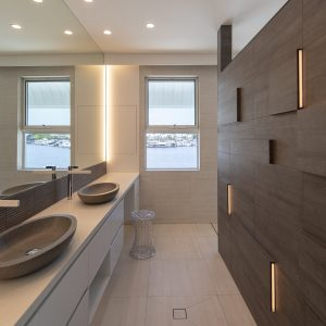 Modern Bathroom Tiles - Cemento Bianco Cassero and Cemento Antracite Cassero