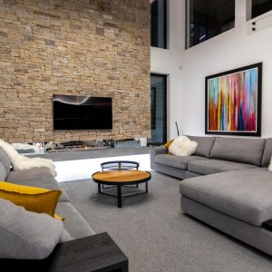Luxury Living Room - Paradise Oz Rock Wall Feature